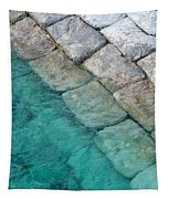 Green Water Blocks Tapestry
