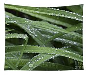 Green With Rain Drops Tapestry