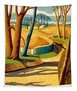 Greet The Sun By London Underground - Metro, Suburban - Retro Travel Poster - Vintage Poster Tapestry