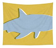 Grey And Yellow Shark Tapestry