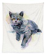 Grey Kitten Tapestry