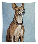 Greyhound Commission Painting By Irina Sztukowski Tapestry