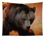 Grizzly Bear Painted Tapestry