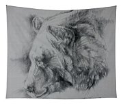 Grizzly Sketch Tapestry