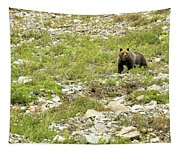 Grizzly Watching People Watching Grizzly No. 2 Tapestry