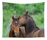 Grooming Horses Tapestry