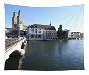 Grossmunster, Wasserkirche And Munsterbrucke - Zurich Tapestry