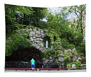 Grotto Of Our Lady Of Lourdes Tapestry