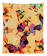 Group Of Butterflies With Colorful Wings Tapestry