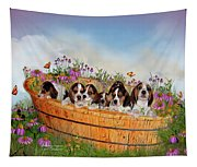 Growing Puppies Tapestry