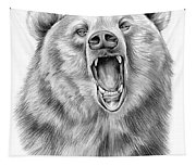 Growling Bear Tapestry