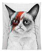 Grumpy Cat As David Bowie Tapestry