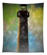 Grunge Lighthouse Tapestry
