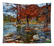 Guadalupe River In Autumn Tapestry