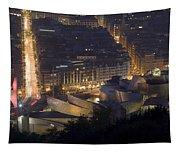 Guggenheim At Night II Tapestry