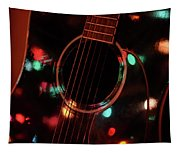 Guitar And Lights Tapestry