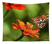 Gulf Fritillary Butterfly Tapestry