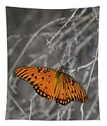 Gulf Fritillary Butterfly In The Brambles Tapestry