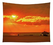 Gulf Sunset Tapestry