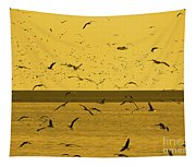 Gulls Orange Tint Tapestry