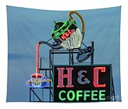 H And C Coffee Tapestry