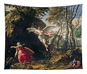 Hagar And Ishmael In The Wilderness Tapestry