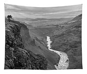 Haifoss Waterfall Iceland 1370 Tapestry