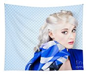 Hair And Beauty Fashion Portrait Tapestry