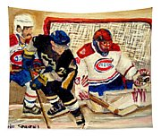 Halak Catches The Puck Stanley Cup Playoffs 2010 Tapestry