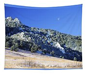 Half Moon Over The Flatirons Tapestry