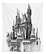 Hall Of The Snow King Monochrome Tapestry
