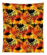 Halloween Abstract - Happy Halloween Tapestry