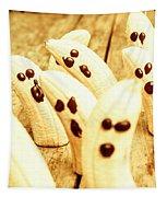 Halloween Banana Ghosts Tapestry