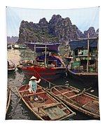 Halong Bay Harbor Scene Tapestry