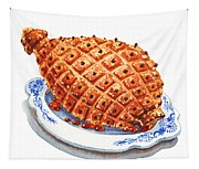 Ham On The Plate Tapestry
