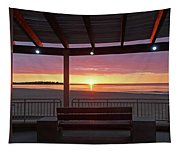 Hampton Beach Sunrise Hampton Beach State Park Hampton Nh Bench 2 Tapestry