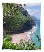 Hanakapiai Beach - Kalalau Trail - Kauai Hawaii Tapestry