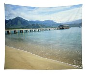 Hanalei Bay And Pier Tapestry