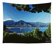Hanalei Bay Boats Tapestry