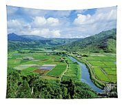 Hanalei Valley Taro Field Tapestry