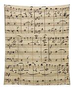 Handwritten Score Tapestry
