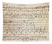 Handwritten Score For Waltz For Piano, Opus 39 Tapestry