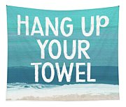 Hang Up Your Towel- Beach Art By Linda Woods Tapestry