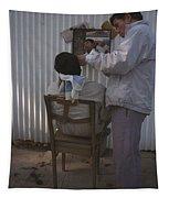 Hanoi Street Barber Tapestry