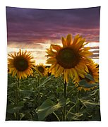 Happiness Is A Field Of Sunflowers Tapestry