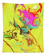 Happy Birthday Lilac Breasted Roller Abstract Tapestry