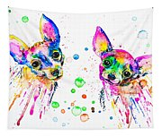 Happy Chihuahuas Tapestry