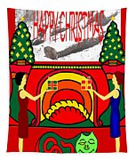 Happy Christmas 13 Tapestry