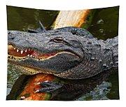 Happy Gator Tapestry