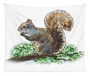 Happy Squirrel  Tapestry